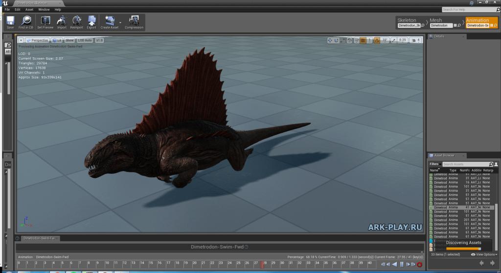 dimetrodon-swim